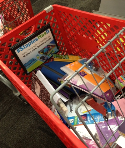 Nothing says September like a cart full of school supplies.